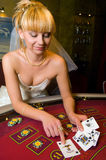 Bride in a casino Stock Image