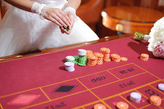 Bride in Casino Royalty Free Stock Images