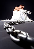 Bride and chains Stock Images