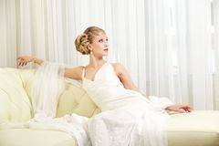 Bride on Chair Stock Image