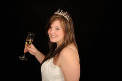 Bride with Champagne Royalty Free Stock Photography