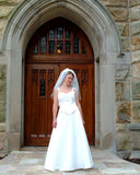 Bride at Church Door Stock Image