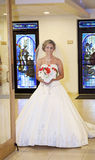 Bride in church Stock Image