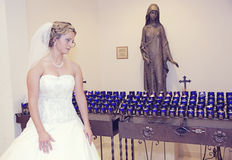 Bride in a church Royalty Free Stock Images