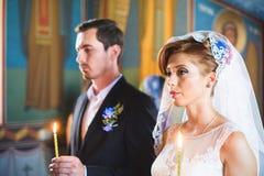 Bride at Church Stock Photos