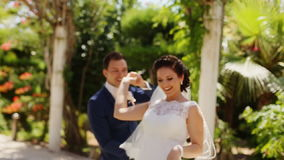 Bride circling the groom stock video footage