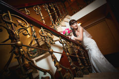 Bride in the classic interior Stock Photography