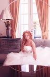Bride in classic interior Stock Image