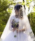 The bride is closed veil Royalty Free Stock Photo