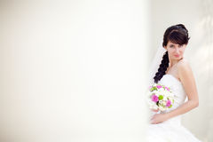 Bride in columns Stock Photo