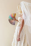 The bride is considering a home renovation Royalty Free Stock Image