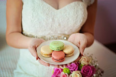 BRIDE AND COOKIES Stock Photography