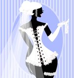 bride in a corset Royalty Free Stock Images