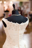 Bride costume on shop mannequin Royalty Free Stock Photos