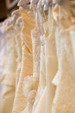 Bride costumes on shop Royalty Free Stock Photography