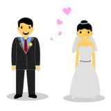 Bride couple,  on white Royalty Free Stock Image
