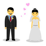 Bride couple,  on white Royalty Free Stock Photos