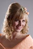 Bride in cream dress. Portrait 2 Stock Photo