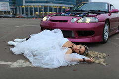 The bride crushed Royalty Free Stock Image