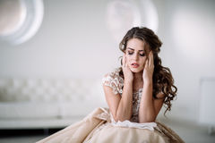 Bride crying stock images