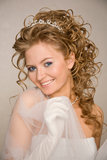 Bride with curly hair Stock Image