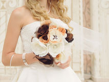 Bride with Curly Hair Stock Images