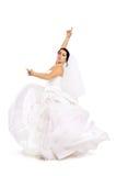 Bride dancing royalty free stock photos
