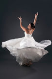 Bride dancing royalty free stock image