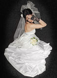 Bride on dark Royalty Free Stock Images