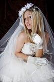 Bride in dark stock image