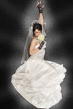 Bride on dark background Royalty Free Stock Photography