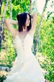 Bride with dark-brown hair Stock Photos