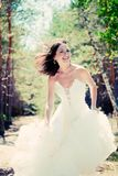 Bride with dark-brown hair Stock Photo