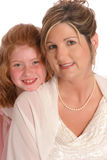 Bride and daughter Stock Image