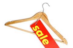 Bride de fixation de couche en bois avec l'étiquette de vente Images stock