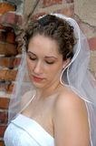 Bride deep in thought Royalty Free Stock Image