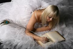 Bride diary Stock Photography