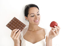 Bride on a diet Stock Photography