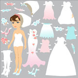 Bride doll clothes for cutting and dressing Stock Photography