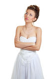 Bride doubting Royalty Free Stock Photo