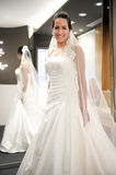Bride with dress Stock Photo