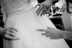 Bride dress Stock Images