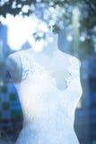 Bride dress bridal shop dummy wedding store mannequin Royalty Free Stock Images