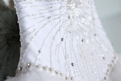 Bride dress decoration detail Royalty Free Stock Photography