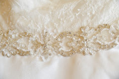 Bride dress details Royalty Free Stock Photos