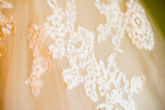 Bride dress details. Wedding dress close-up details Stock Image