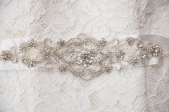 Bride dress details Stock Images