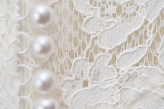Bride dress details. Wedding dress close-up details Stock Photography