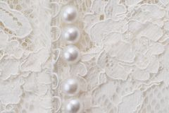 Bride dress details. Wedding dress close-up details Royalty Free Stock Photos