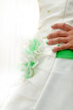 Bride dress and nails Stock Photography